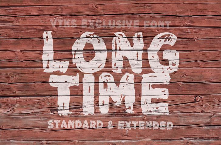 Vtks LongTime font by VTKS DESIGN