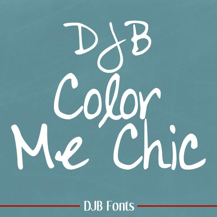 DJB Color Me Chic font by Darcy Baldwin Fonts