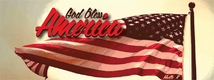God Bless America font by Maellekeita