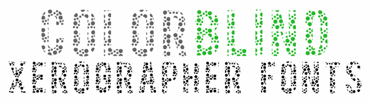 ColorBlind font by Xerographer Fonts