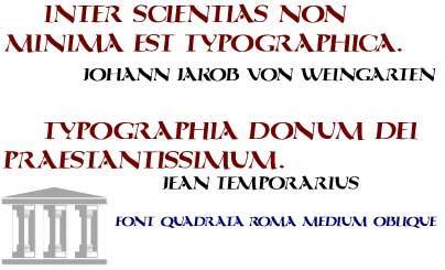 QuadrataRoma font by Manfred Klein