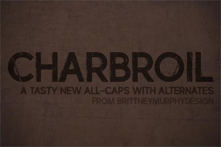 charbroil font by Brittney Murphy Design
