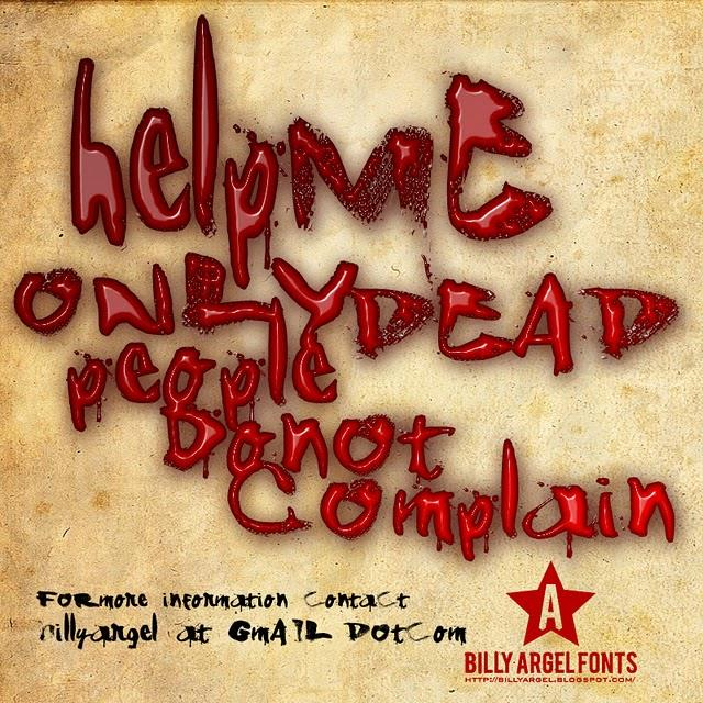ShAnKed font by Billy Argel