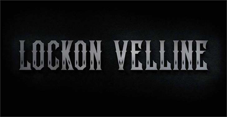 Lockon Velline font by seventhimperium
