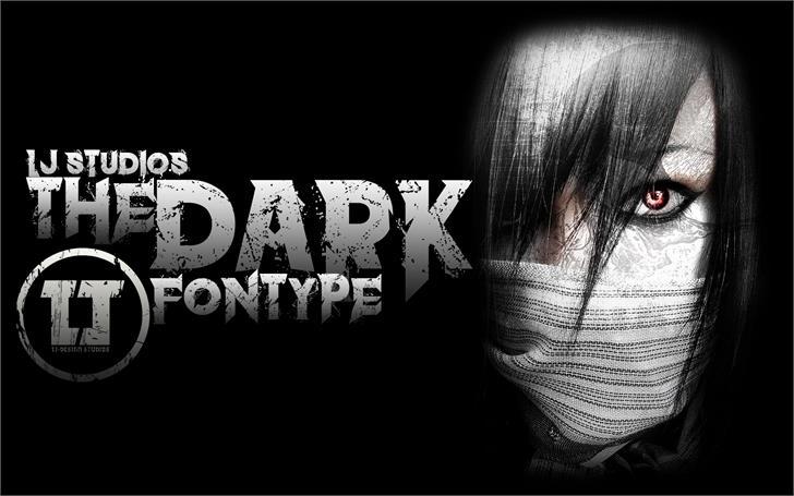 the dark font by LJ Design Studios