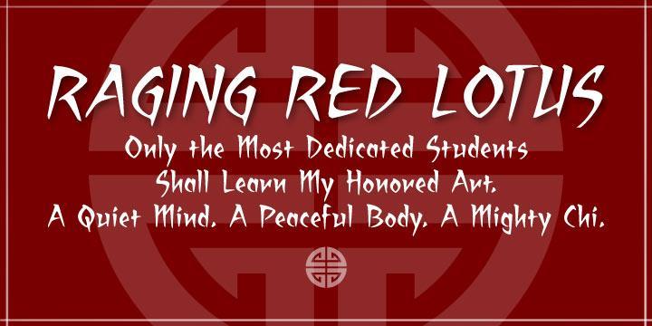 Raging Red Lotus BB font by Blambot