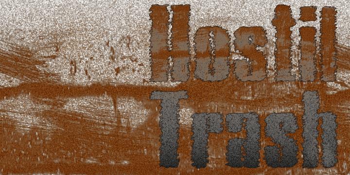 Hostil Trash font by Intellecta Design