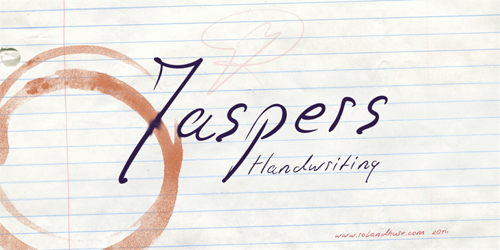 Jaspers Handwriting font by Roland Huse Design