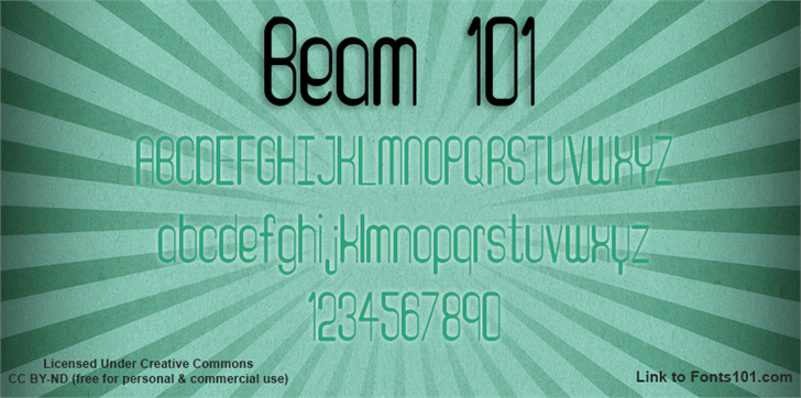 Beam 101 font by Fonts101