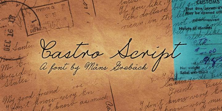 Castro Script PERSONAL USE ONLY font by Måns Grebäck