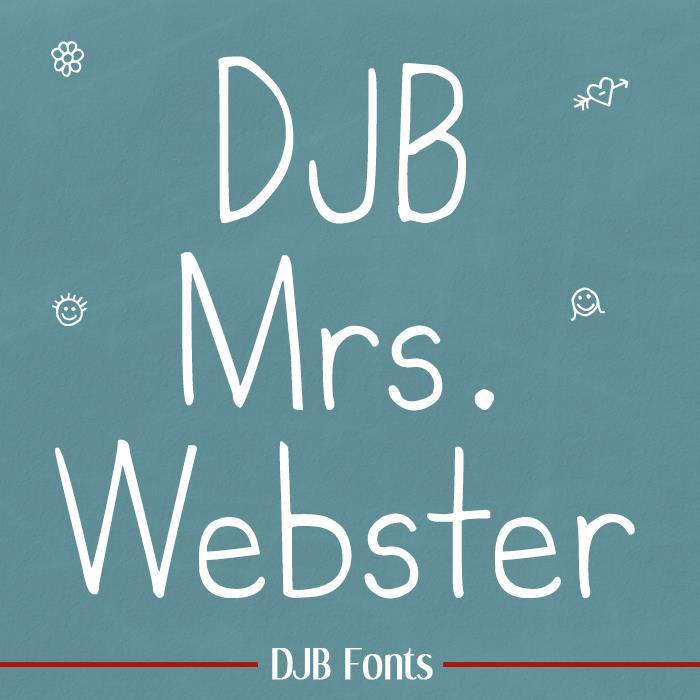 DJB MrsWebster font by Darcy Baldwin Fonts