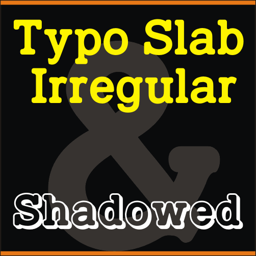 TypoSlab Irregular Demo font by studiotypo