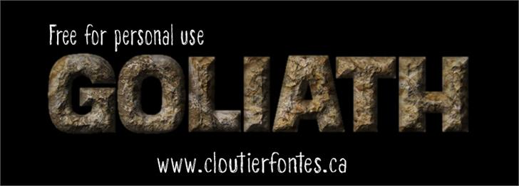 CF Goliath Demo font by CloutierFontes