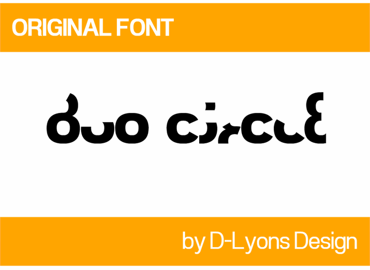 Duo Circle font by 538Fonts