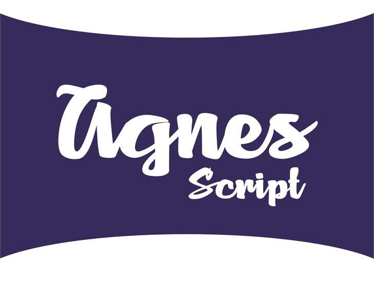 Agnes Script font by VVB DESIGNS