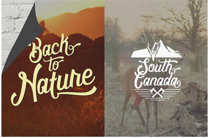 Montreal Script font by UncurveType