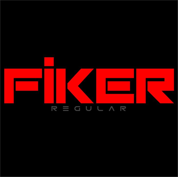 Fiker regular promo font by Qbotype Fonts