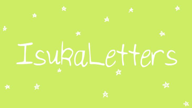 IsukaLetters font by IsukaMuthumuni