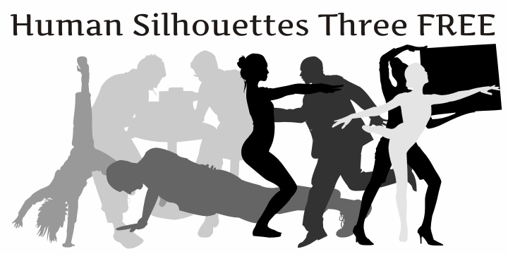 Human Silhouettes Free Two font by Intellecta Design