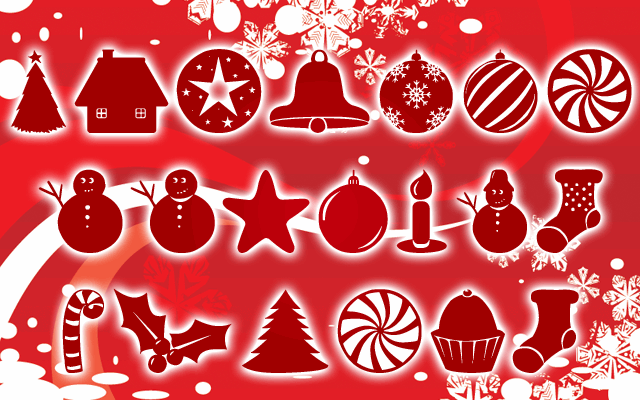Christmas Shapes font by Z-Designs