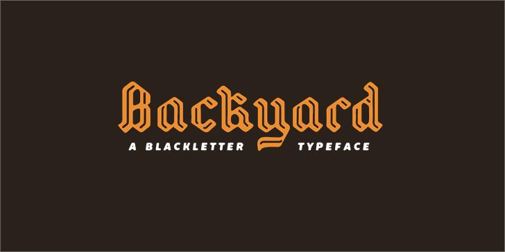 Backyard PERSONAL font by Måns Grebäck