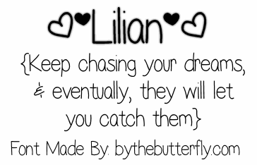 Lilian font by ByTheButterfly