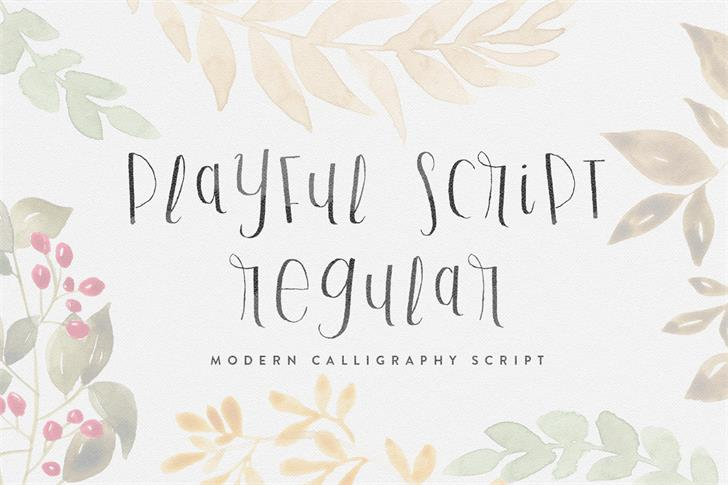 Playful Script Demo font by Out Of Step Font Company