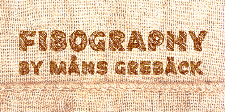 Fibography Personal Use font by Måns Grebäck