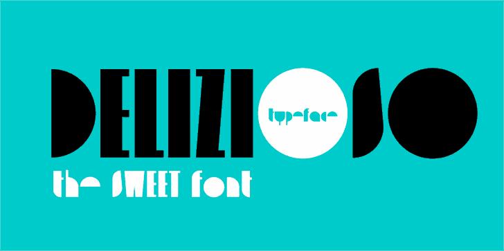 delizioso font by Zetafonts