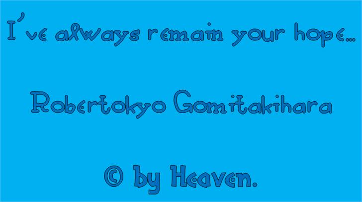 Robertokyo Gomitakihara font by heaven castro