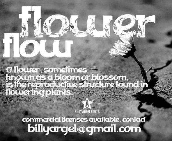 FLOWERFLOW font by Billy Argel