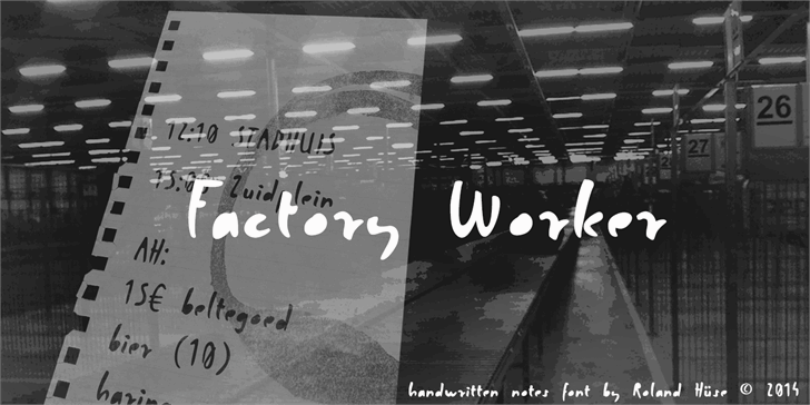 Factory Worker font by Roland Huse Design