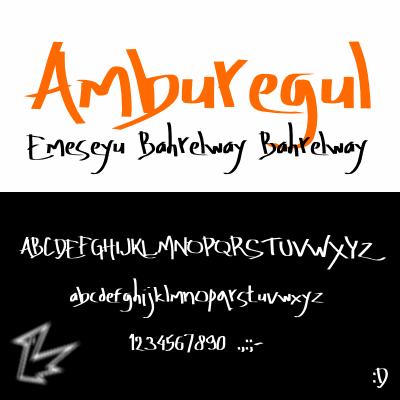 Amburegul font by Rainkarnichi