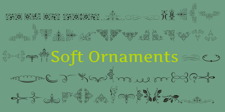 Soft Ornaments font by Intellecta Design