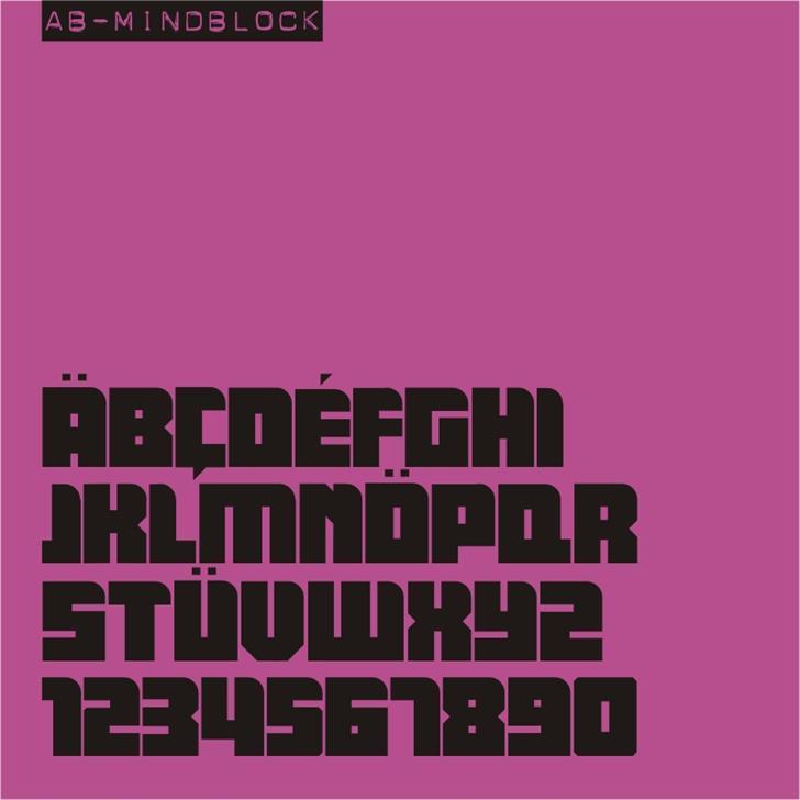 AB Mindblock font by redFONTS