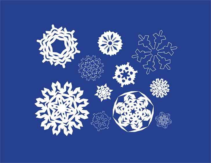 Paper Snowflakes font by Shara Weber