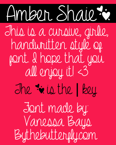 Amber Shaie font by ByTheButterfly