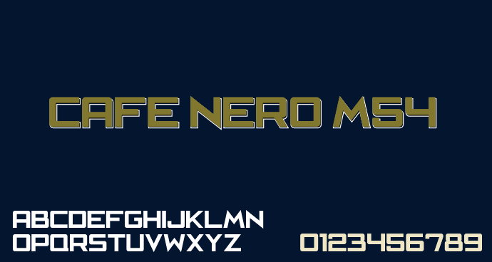 Cafe Nero M54 font by justme54s
