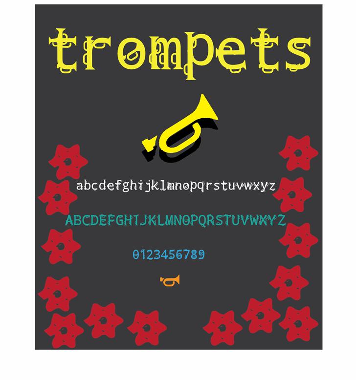 trompets font by Cé - al