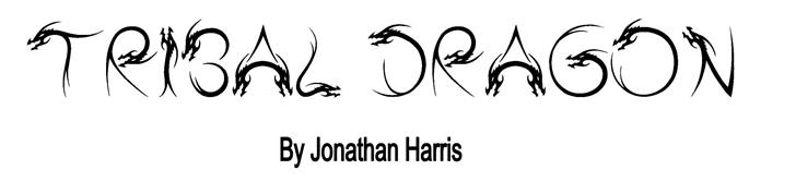 Tribal Dragon font by Jonathan S. Harris