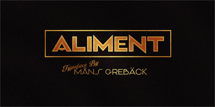 Aliment PERSONAL USE font by Måns Grebäck
