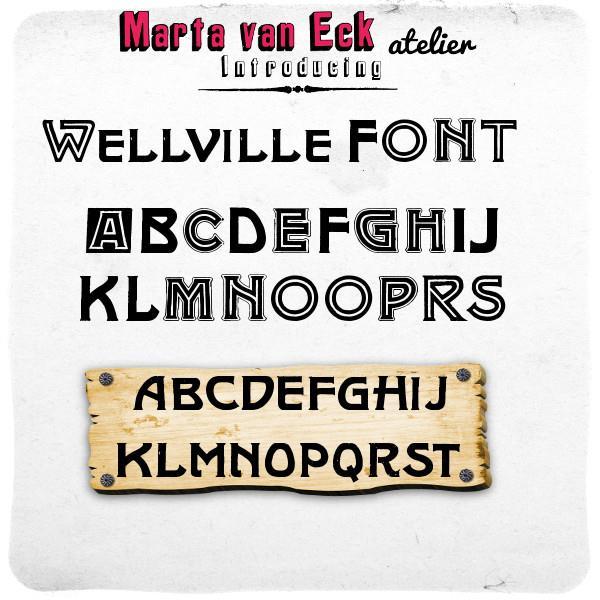 Wellville font by Marta van Eck font by Marta van Eck Designs