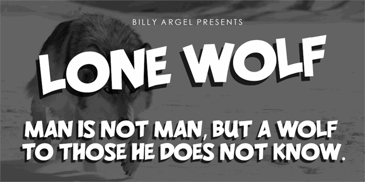 LONE WOLF PERSONAL USE font by Billy Argel