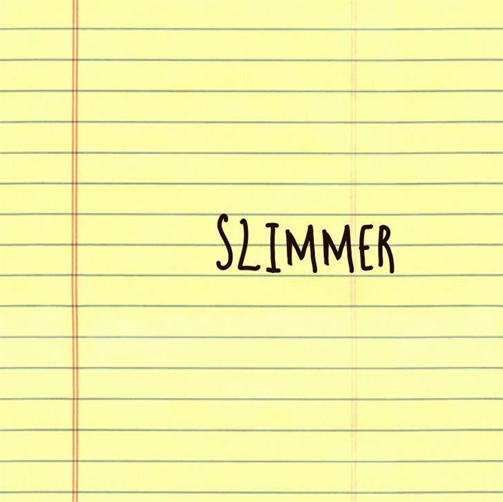 Slimmer font by Areeba