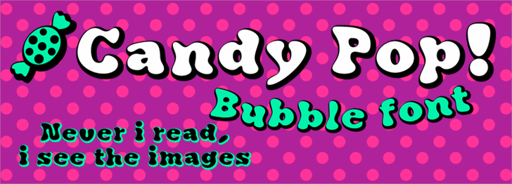 Candy Pop! font by deFharo
