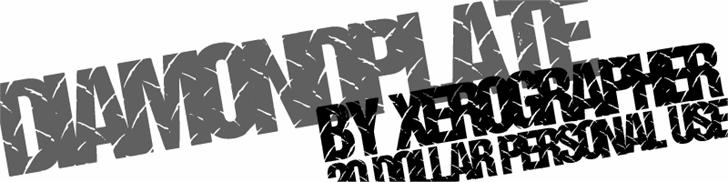 DiamondPlate font by Xerographer Fonts