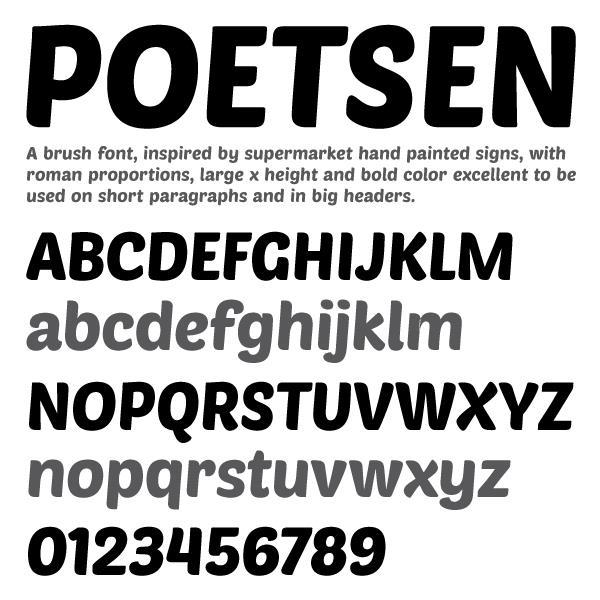 PoetsenOne font by Pablo Impallari