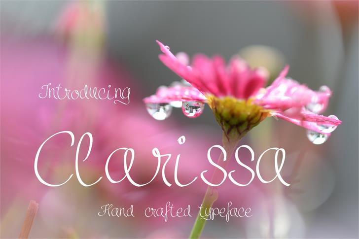 Clarissa font by Eva Barabasne Olasz