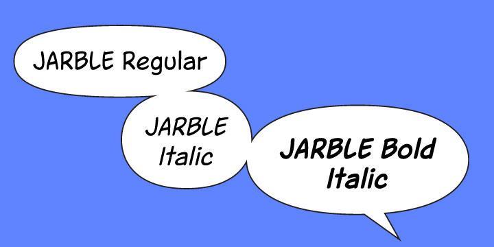 Jarble font by Joberto