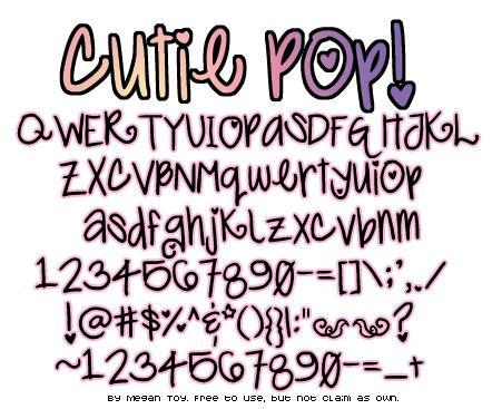 Cutie Pop font by Megan Toy Fonts